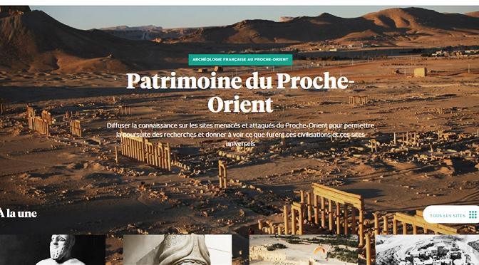 Le Patrimoine du Proche-Orient en ligne
